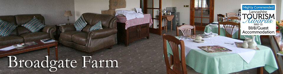 Broadgate Farm Bed and Breakfast and Caravan Site, in the Forest of Bowland, Lancashire
